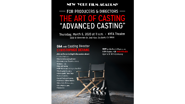 The Art of Casting: Advanced Casting Q&A with Casting Director, Christopher Devane